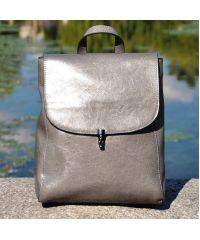 Кожаный рюкзак 8607 серый