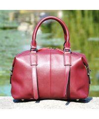 Кожаная сумка 9107 марсала
