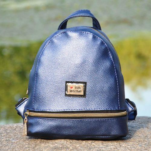 Рюкзак Love Moschino Zipper синий