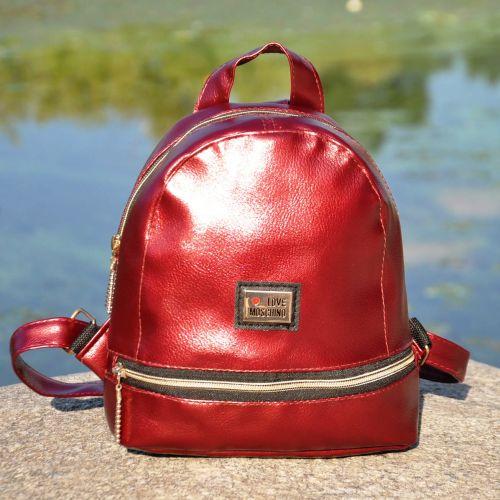 Рюкзак Love Moschino Zipper марсала