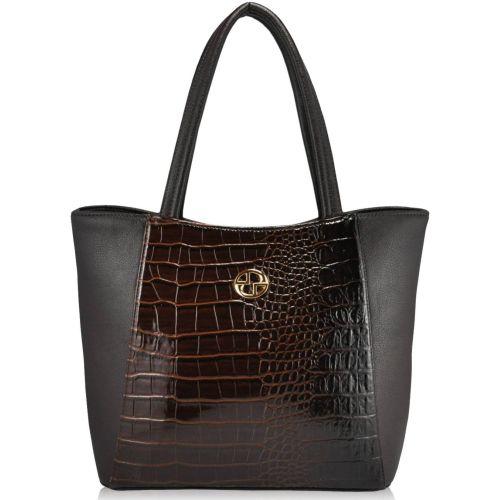Женская сумка 35256 Crocodile коричневая