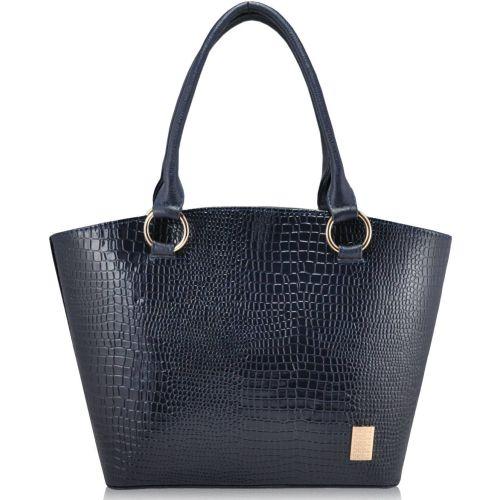 Женская сумка 35224 крокодил синяя