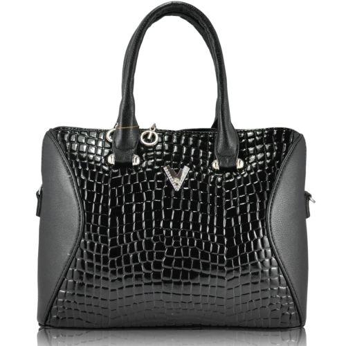 Женская сумка 35109 Crocodile черная