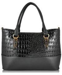 Женская сумка 35241 Crocodile черная
