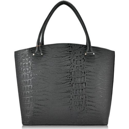 Женская сумка 35223 Crocodile Mat черная