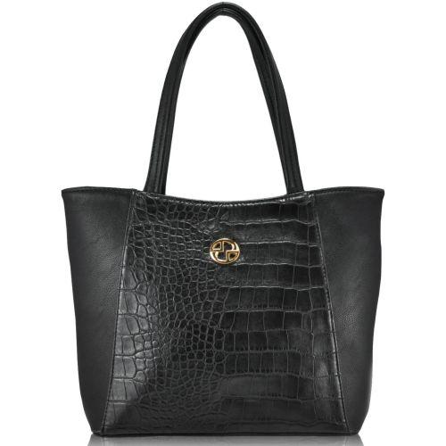 Женская сумка 35256 Crocodile черная