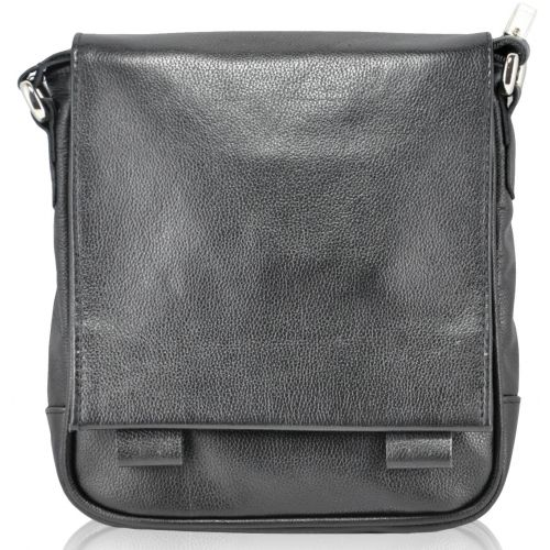 Мужская кожаная сумка 4136 черная