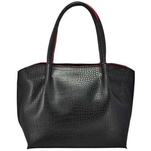 Женская сумка 32863 крокодил черная
