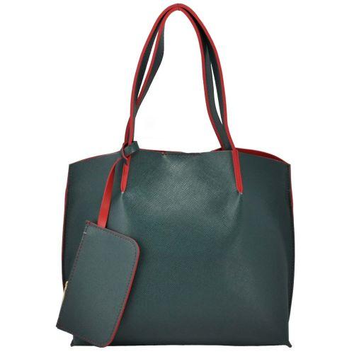 Женская сумка 35189 зеленая с красным