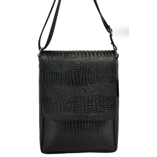 Мужская сумка M52 Crocodile кожаная черная