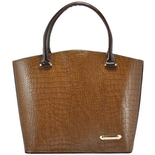 Женская сумка 35223 крокодил коричневая