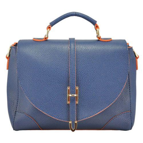 Женская сумка 35213 синяя с оранжевым