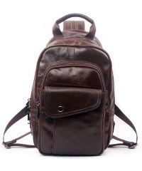 Мужская кожаная сумка 7172-04 коричневая