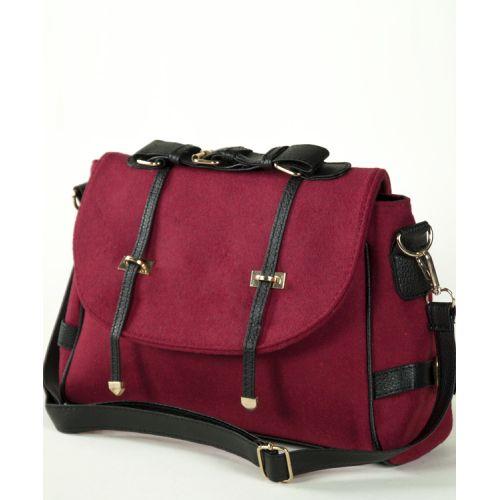 Женская сумка 7244-03 бордовая