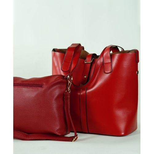 Женская кожаная сумка 7310-02 красная