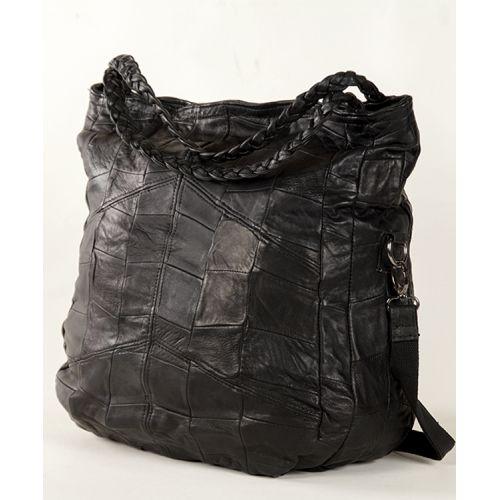 Женская кожаная сумка 7319 черная