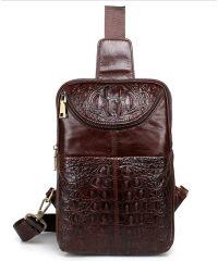 Мужская кожаная сумка 7172-01 коричневая