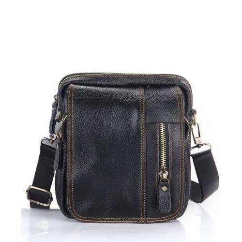 Мужская кожаная сумка 7172-11 черная