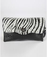 Женский клатч 7212-07 зебра черный