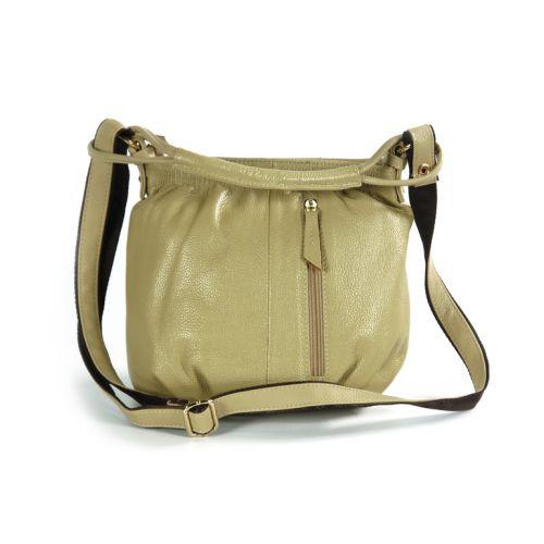 Женская кожаная сумка 7311-01 бежевая