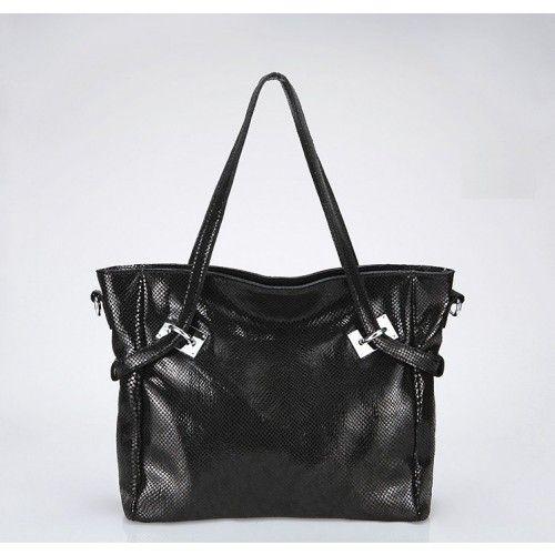 Женская кожаная сумка Discover черная