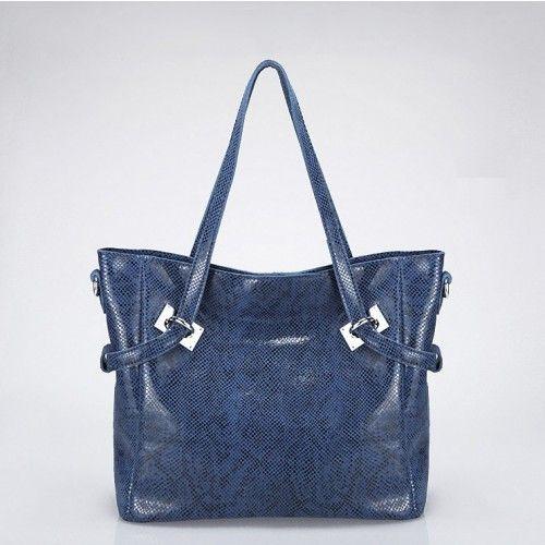 Женская кожаная сумка Discovery синяя