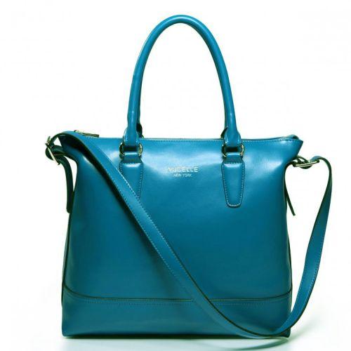Женская кожаная сумка Freedom синяя