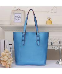 Женская кожаная сумка Tot голубая