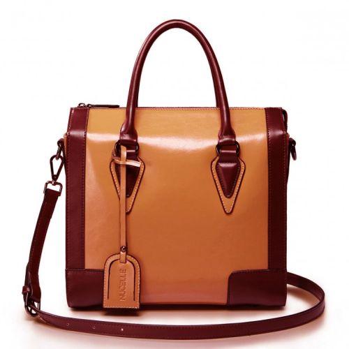 Женская кожаная сумка Artisty коричневая