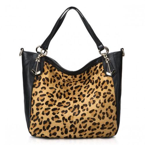 Женская кожаная сумка Leo черная