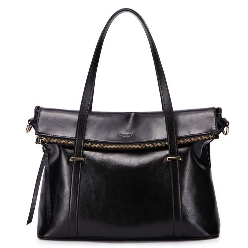 Женская кожаная сумка Blacky черная