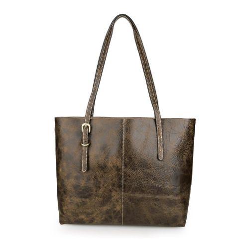 Женская кожаная сумка Secro коричневая
