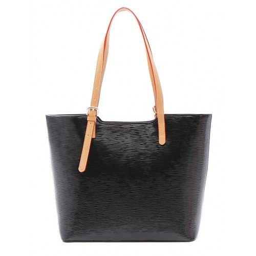 Женская кожаная сумка Beauty черная