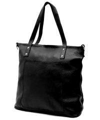 Женская кожаная сумка Simple черная