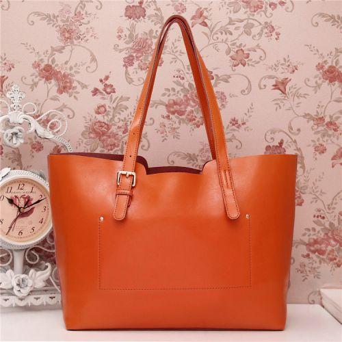 Женская кожаная сумка Tom оранжевая
