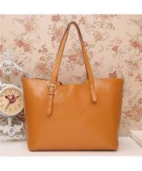Женская кожаная сумка Tomy рыжая