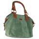 Женская замшевая сумка High C зеленая