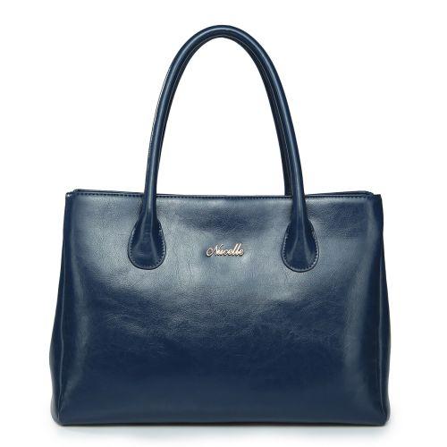 Женская кожаная сумка Higher синяя