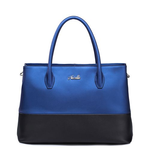Женская кожаная сумка Bluny синяя