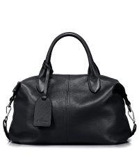 Женская кожаная сумка Topy черная