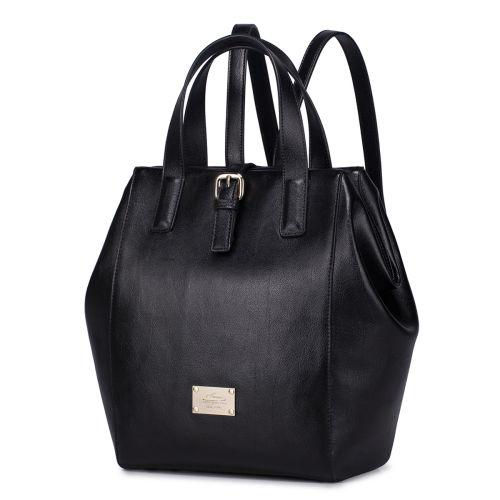 Женская кожаная сумка Walk черная
