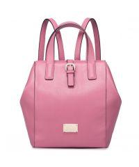 Женская кожаная сумка Walk1 розовая