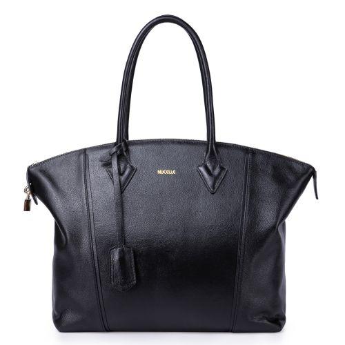 Женская кожаная сумка Fona черная