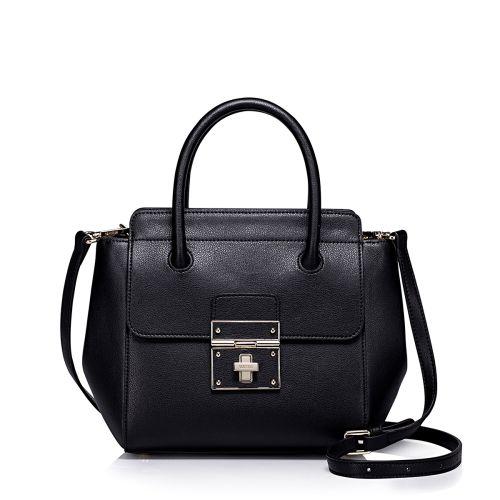 Женская кожаная сумка Soon черная