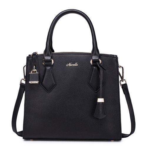 Женская кожаная сумка Deal черная