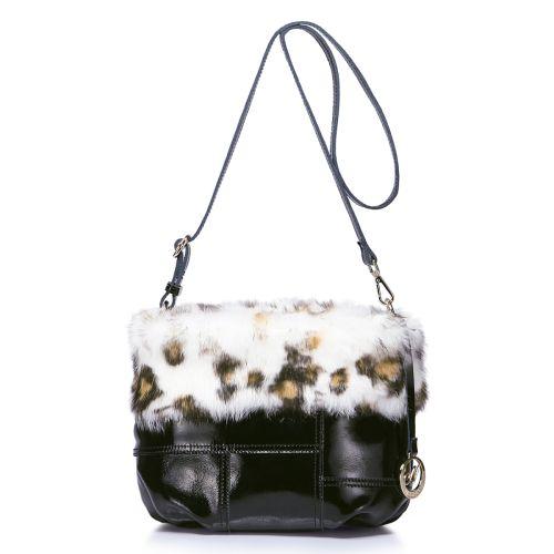 Женская кожаная сумка Pushy черная