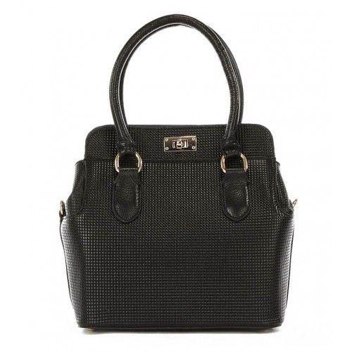 Женская кожаная сумка Fashion черная