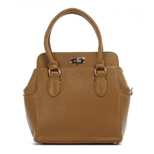 Женская кожаная сумка Fashion1 бежевая