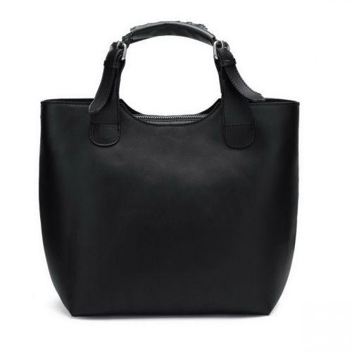 Женская кожаная сумка Elegance черная