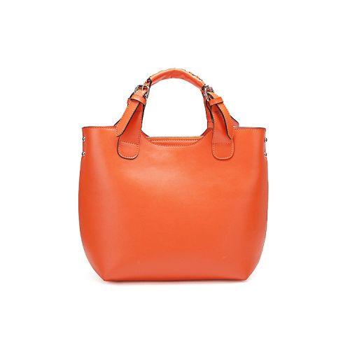 Женская кожаная сумка Elegance1 оранжевая